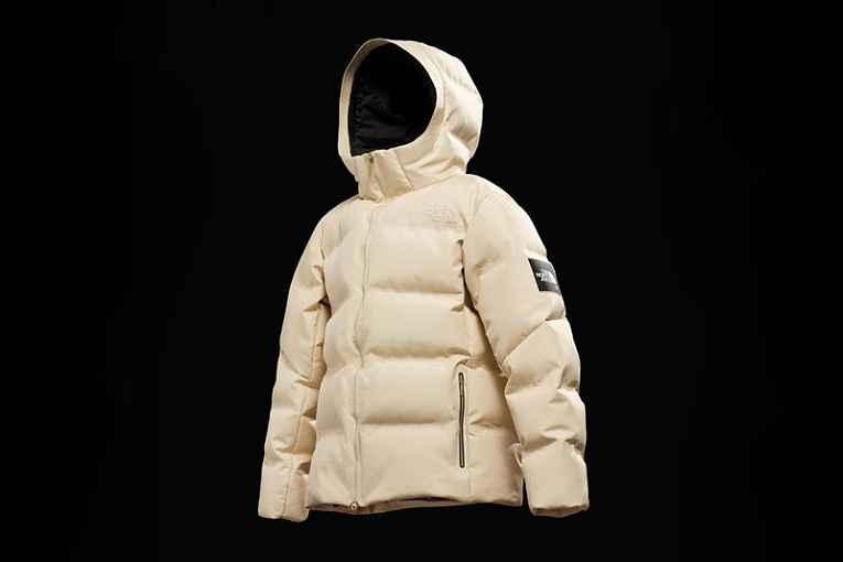 Jaqueta feita com fibra sintética de teia