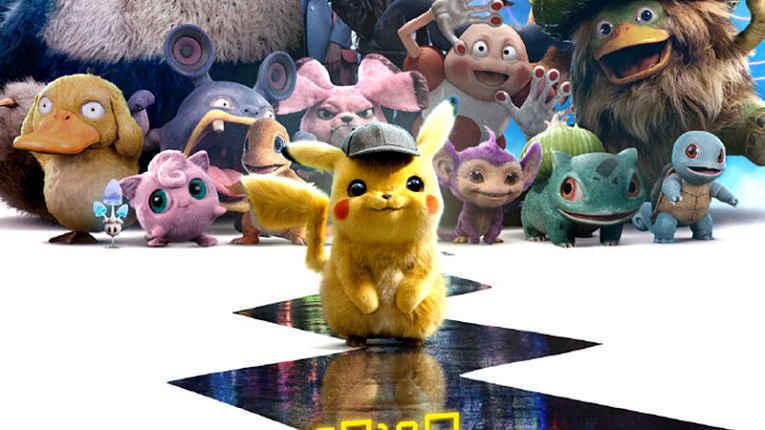 Pikachu e outros Pokémons em cena do filme