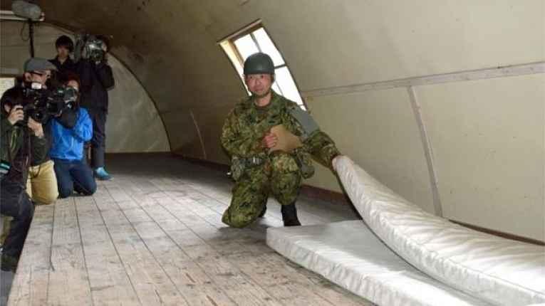 Militar mostra local onde Yamato dormiu